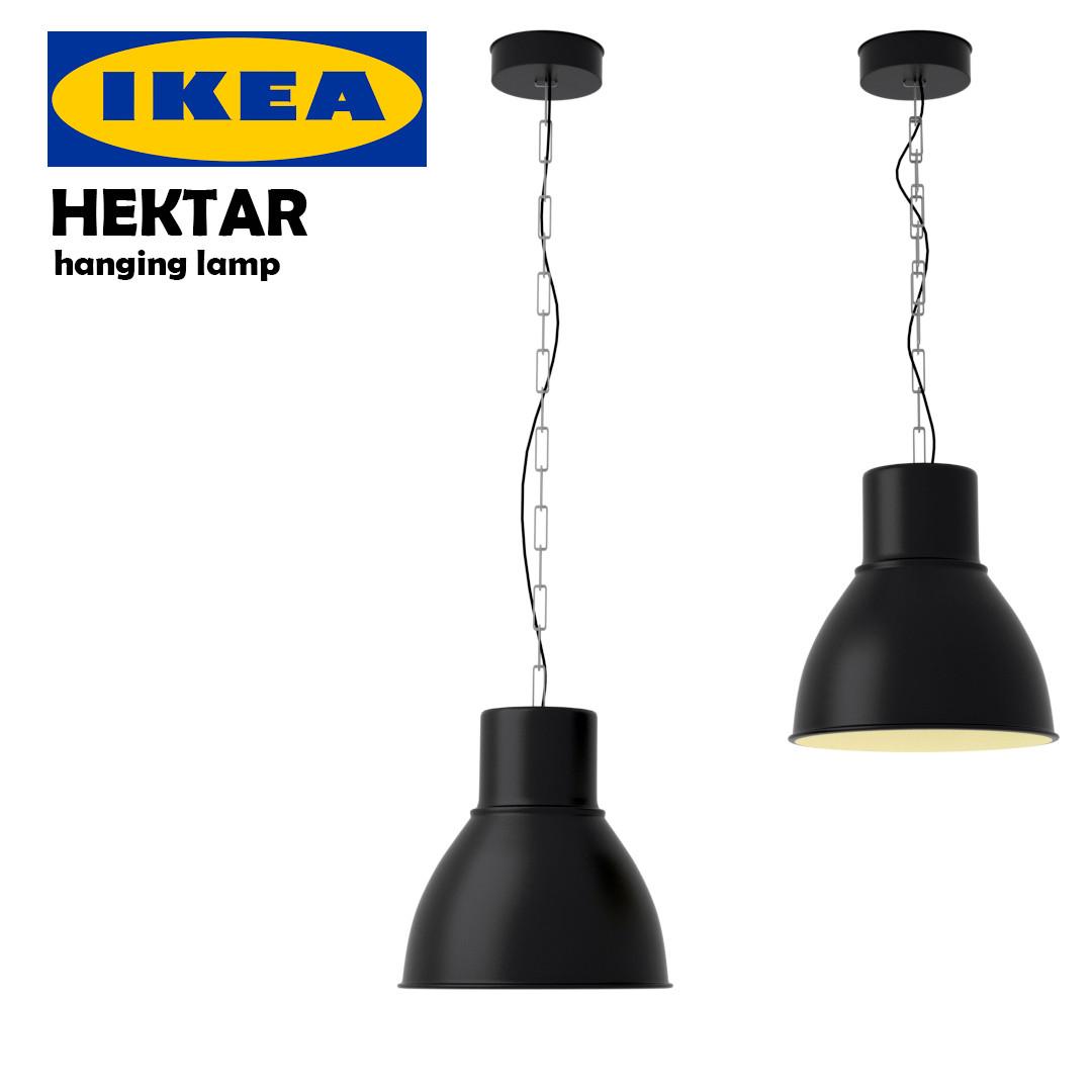 ikea hektar hanging lamp 3d model. Black Bedroom Furniture Sets. Home Design Ideas