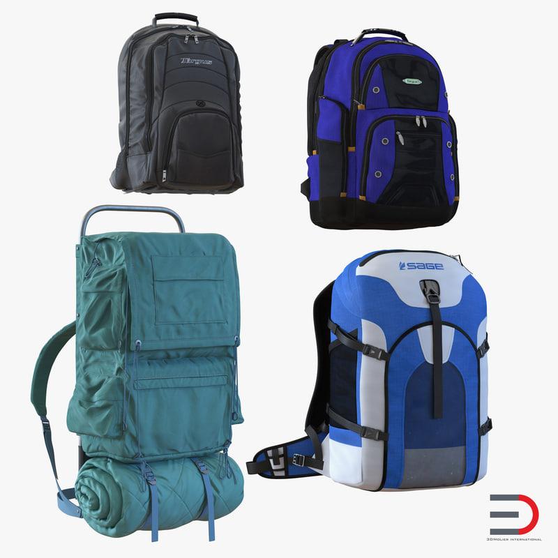 Backpacks Collection 3d models 01.jpg
