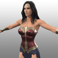 Wonder Woman 3D models