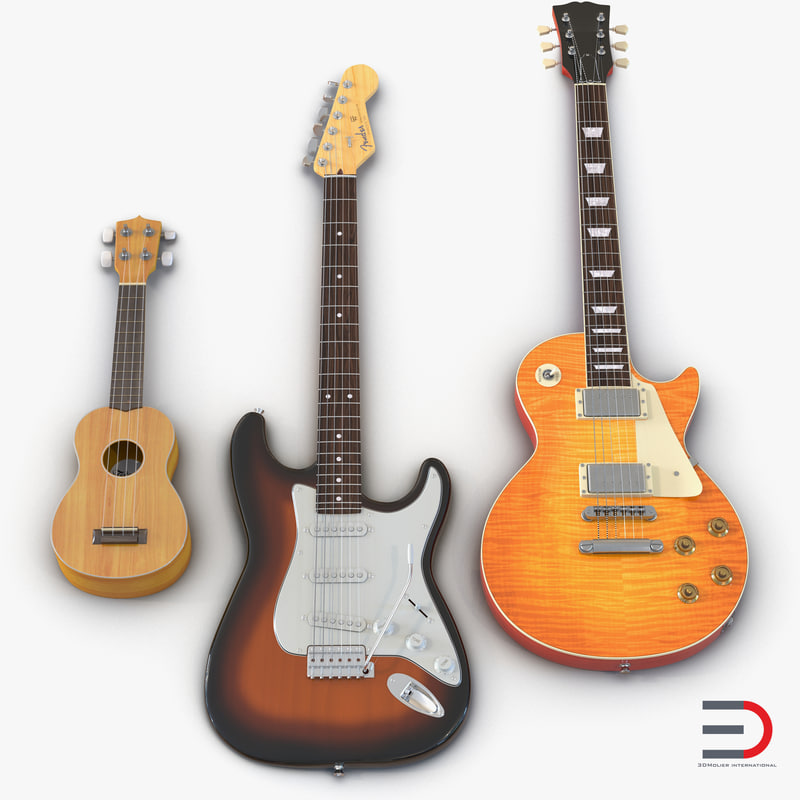 Guitars Collection 3d models 01.jpg