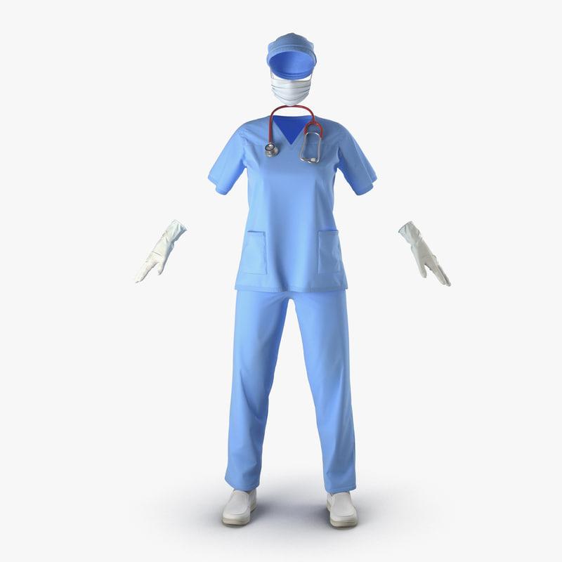 Female Surgeon Dress 3d model 01.jpg