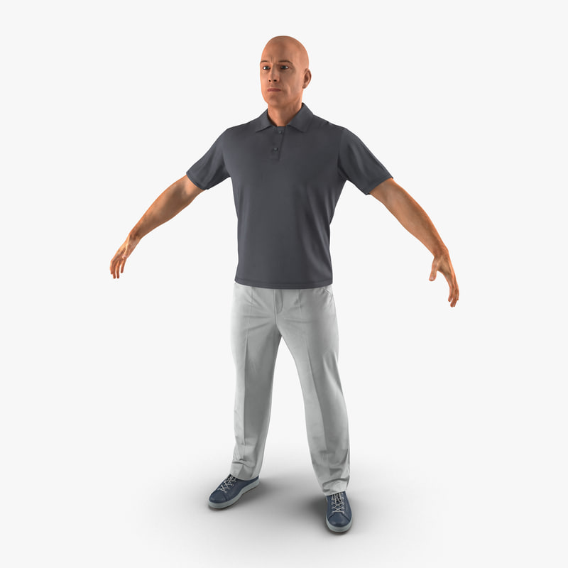 Man Casual Style 3d model 01.jpg