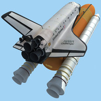 Space Shuttle Challenger 3D models