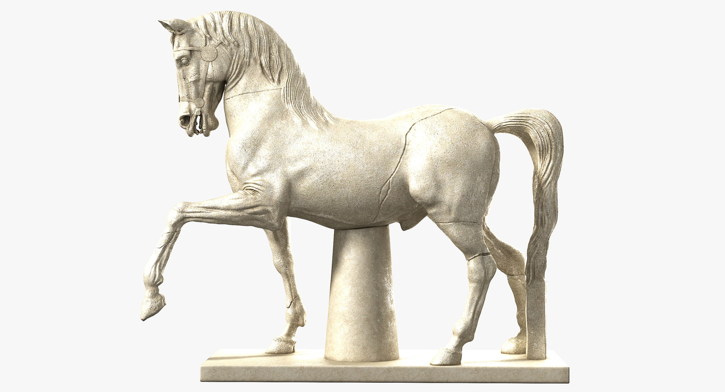 small horse statue 3d - photo #8
