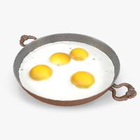 fried egg 3D models
