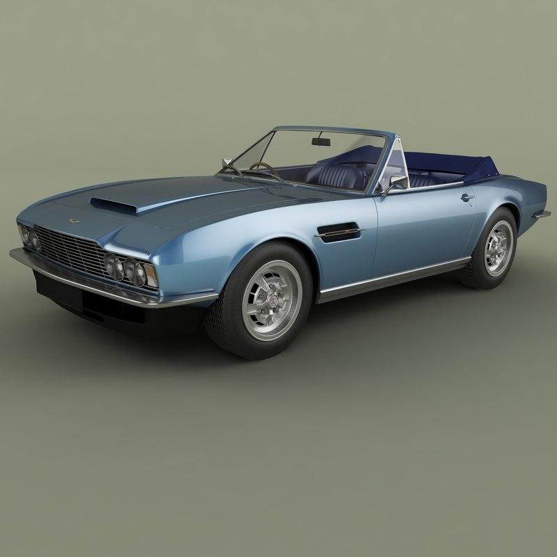 Aston Martin Dbs Convertible 3d Model