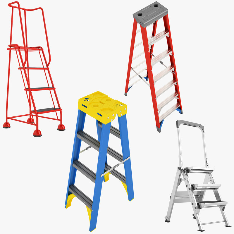 Ladder Stepladder 01 3d Max