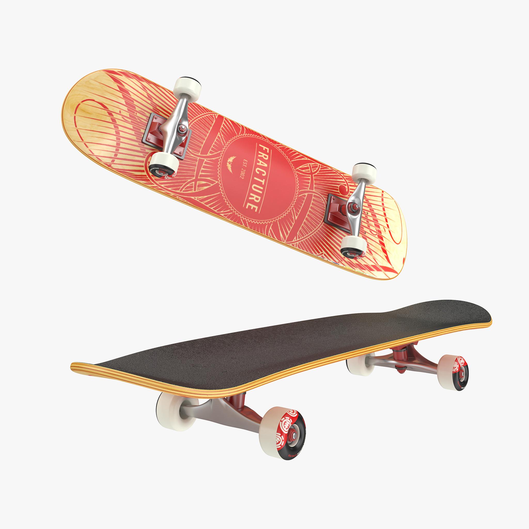 Skateboard deck 3d model - Skateboard mobel ...
