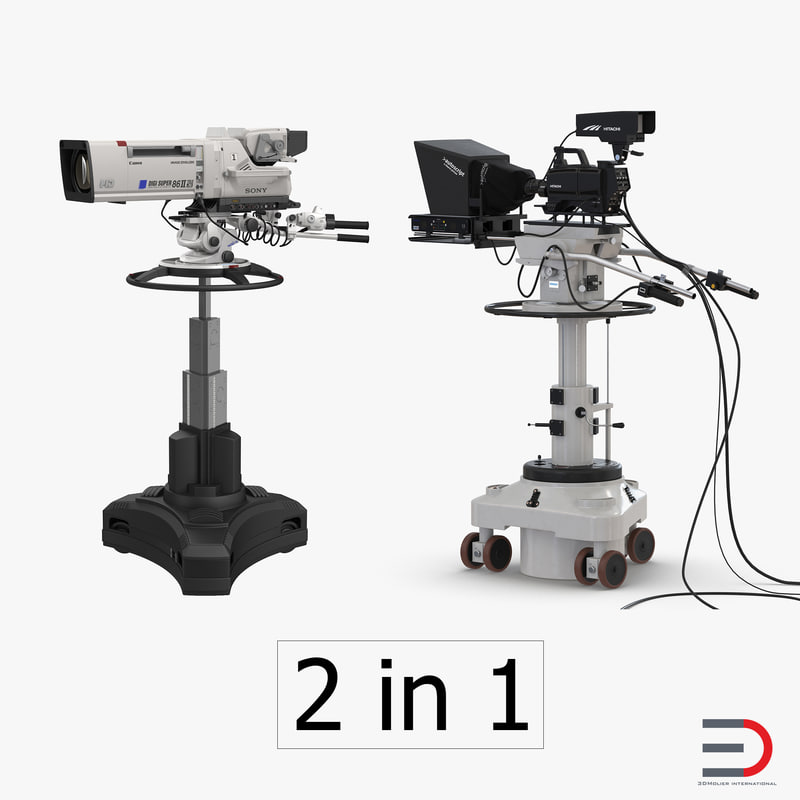 3d model tv studio cameras - Tv in camera ...
