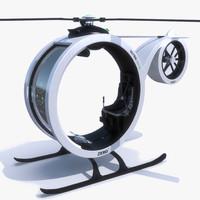 fantasy helicopter 3D models