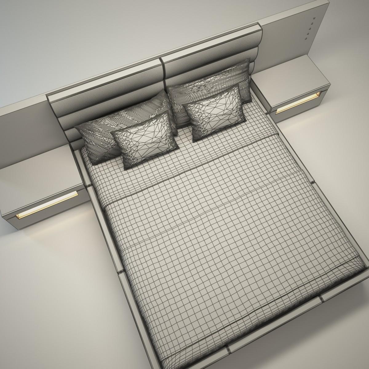 Black bed 1 Wireframe.jpg