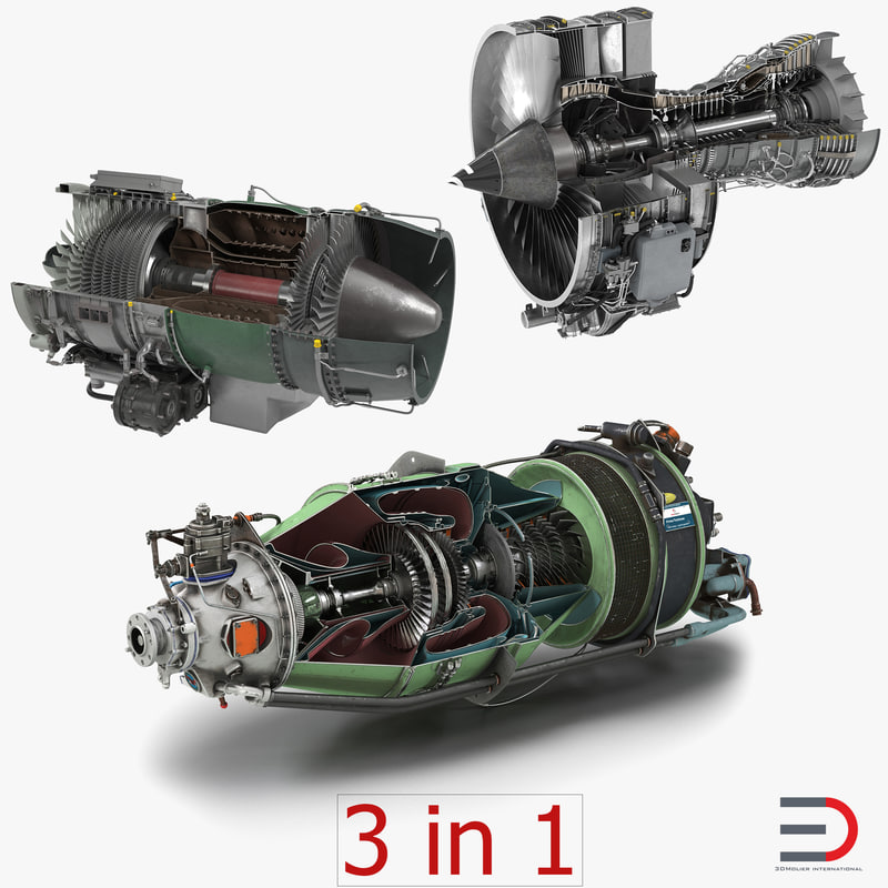 Sectioned Turbojet Engines Collection 3d models 01.jpg