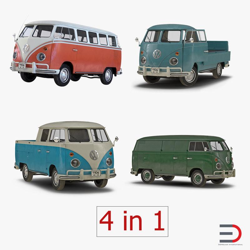 Volkswagen Type 2 Collection 3d models 01.jpg