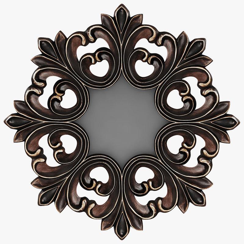 Antique Round Wall Mirror (1).jpg