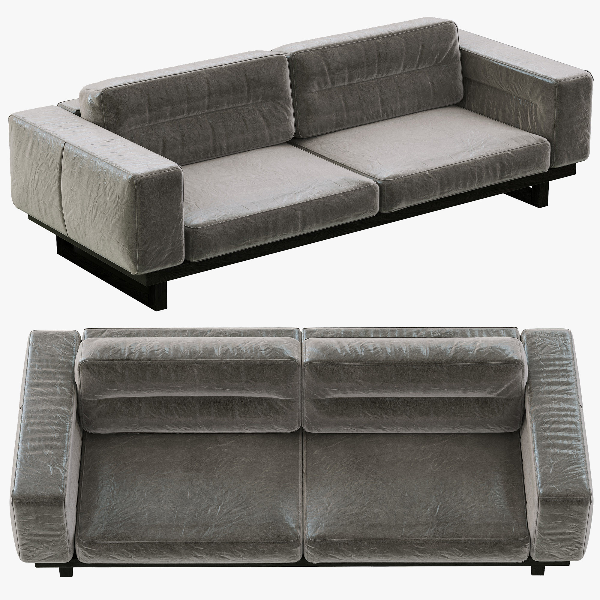 Leather Sofa Repair Rotherham: Restoration Hardware Durrell Leather Sofa 3d Obj