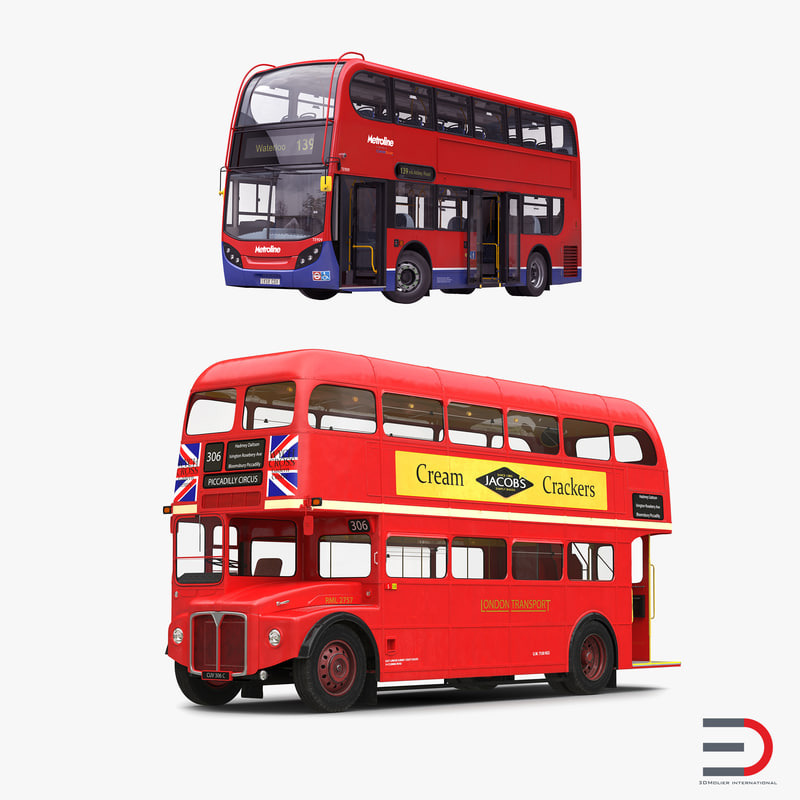 London Buses Rigged Collection 3d models 01.jpg