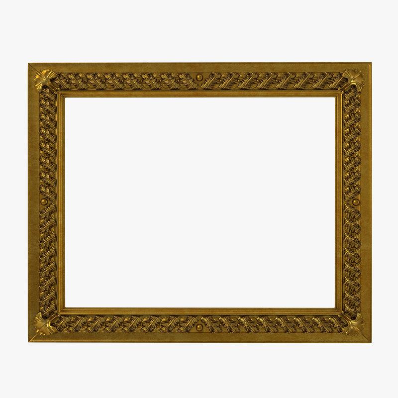 Baroque Picture Frame 3d model 01.jpg