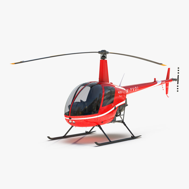 Helicopter Robinson R22 Red 3d model 001.jpg