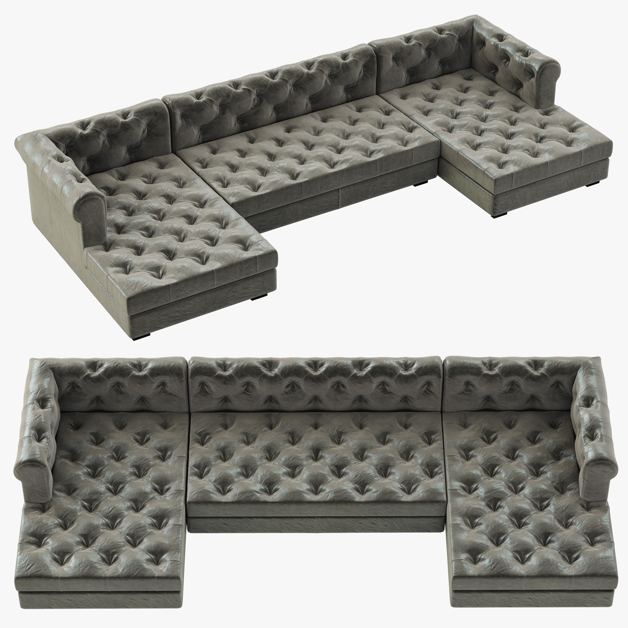 rh modern modena chesterfield 3d model. Black Bedroom Furniture Sets. Home Design Ideas