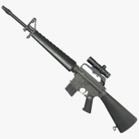 M16A1 Assault Rifle 3D models