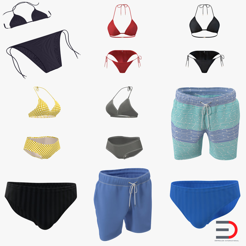 Bathing Suits Collection 3d models 01.jpg