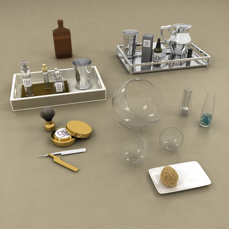 3d model bathroom accessories set for 3d bathroom accessories