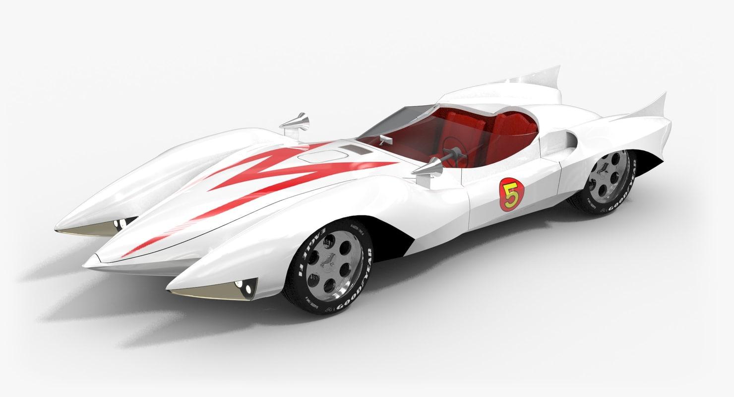 3d 3ds mach 5 car speed
