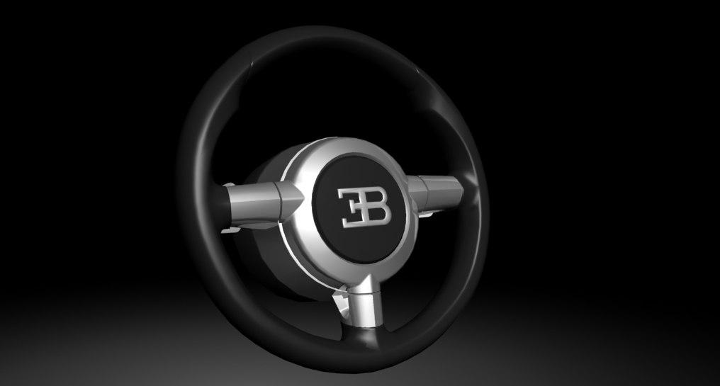 steering wheel bugatti veyron 3d model. Black Bedroom Furniture Sets. Home Design Ideas