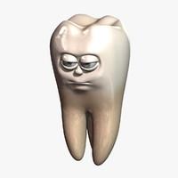 cartoon tooth 3D models