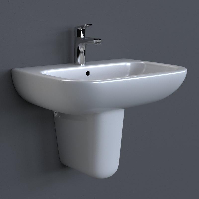 3d model photorealistic duravit d code washbasin. Black Bedroom Furniture Sets. Home Design Ideas