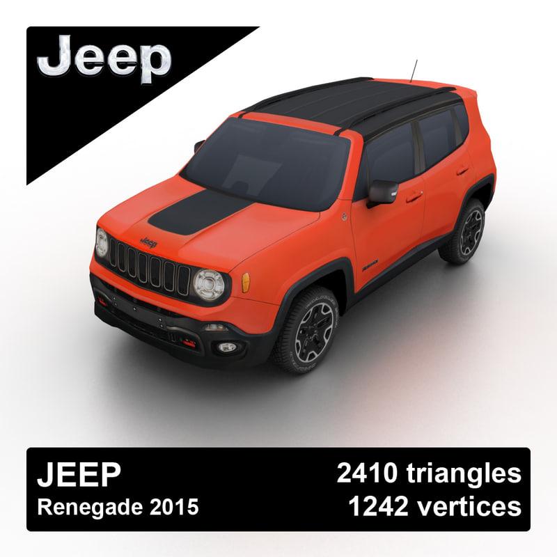 3d model 2015 jeep renegade. Black Bedroom Furniture Sets. Home Design Ideas