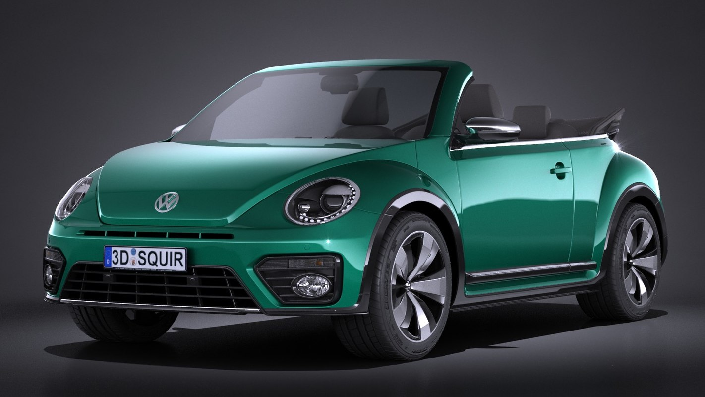 3d volkswagen beetle cabrio model. Black Bedroom Furniture Sets. Home Design Ideas
