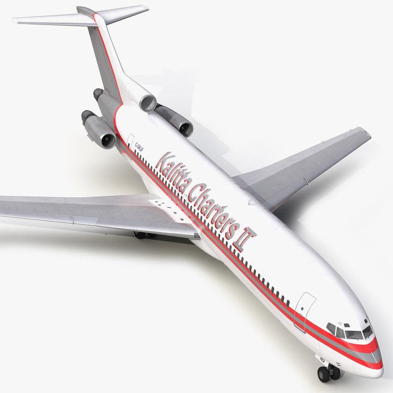 Boeing 727-200 Kalitta Air 3d model 00.jpg