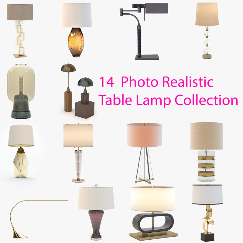 14  Photo Realistic Table Lamp Collection preview.jpg