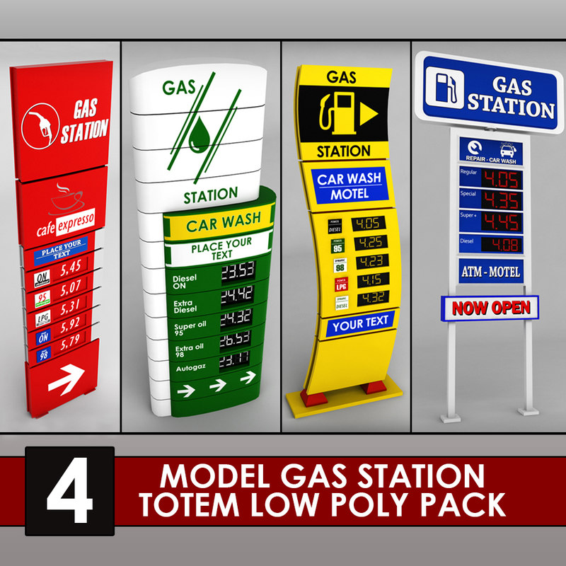 Gas station price sign totem low poly 4 01.jpg