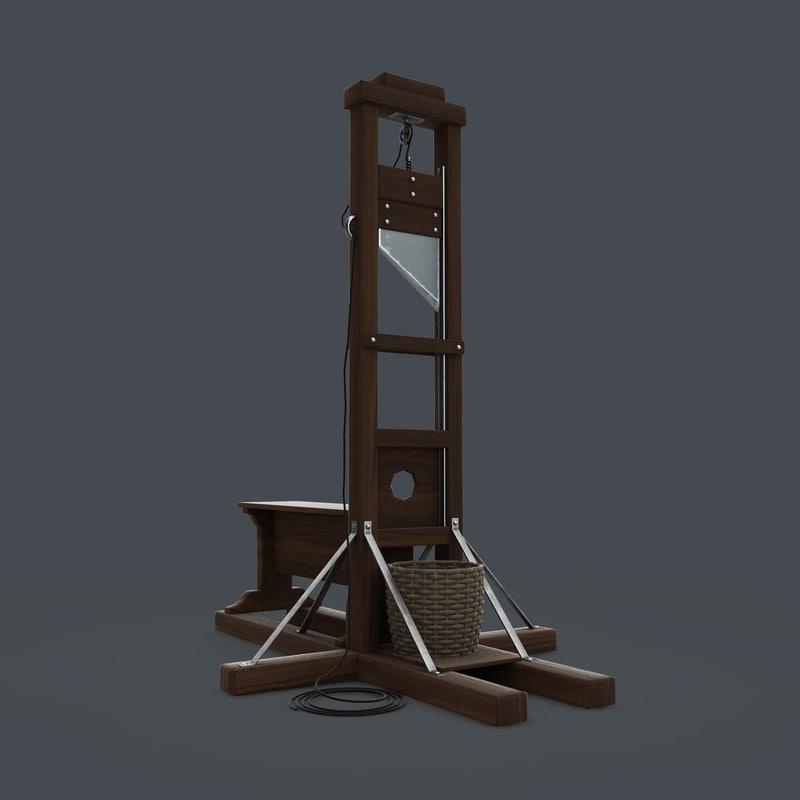 guillotine obj. Black Bedroom Furniture Sets. Home Design Ideas