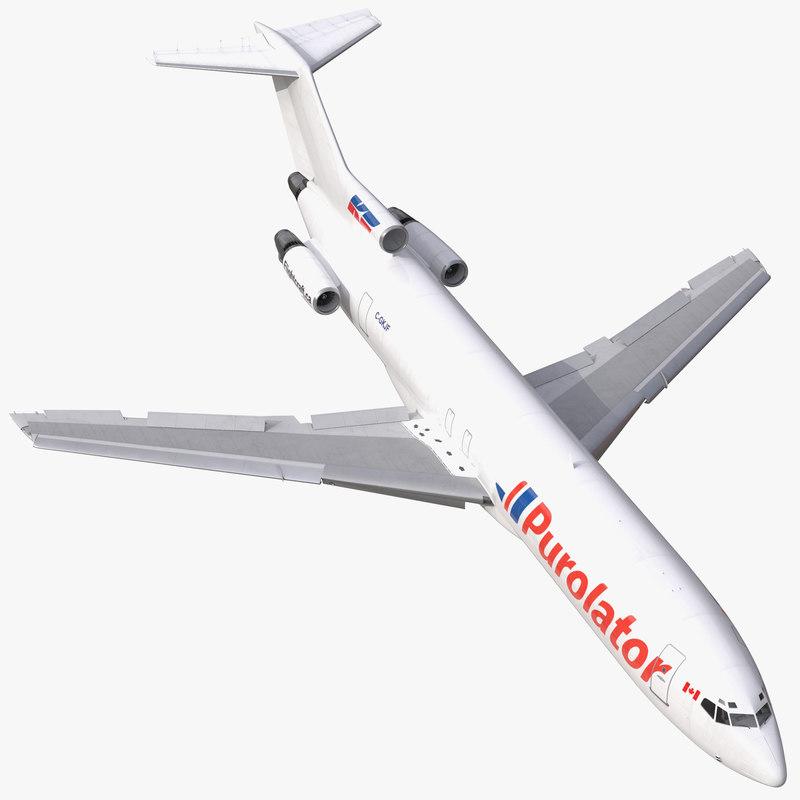 Boeing 727-200F Purolator Kelowna Rigged 3dsmax vray 3d model 000.jpg