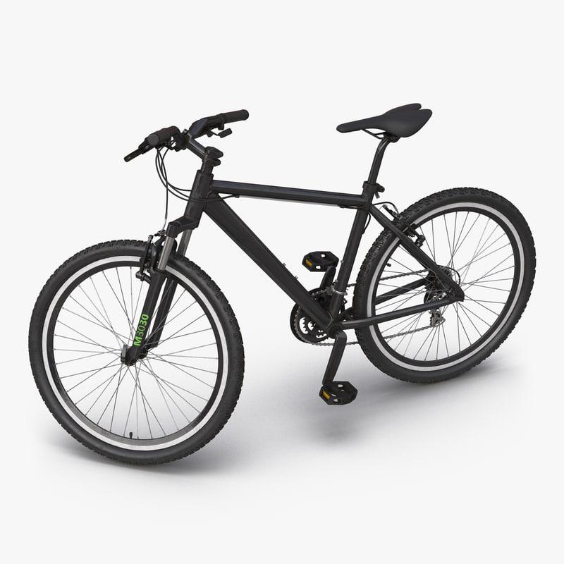 Mountain Bike Generic Black Rigged 3dsmax vray 3d model 000.jpg