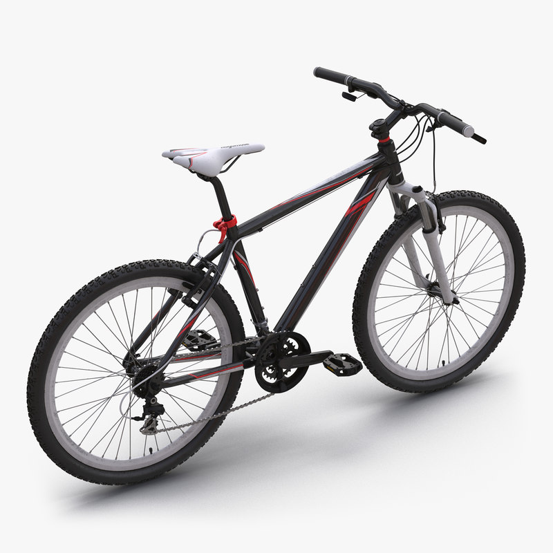 Mountain Bike Generic Red 3d model 000.jpg