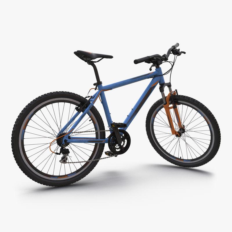Mountain Bike Generic Blue Rigged 3dsmax vray 3d model 000.jpg