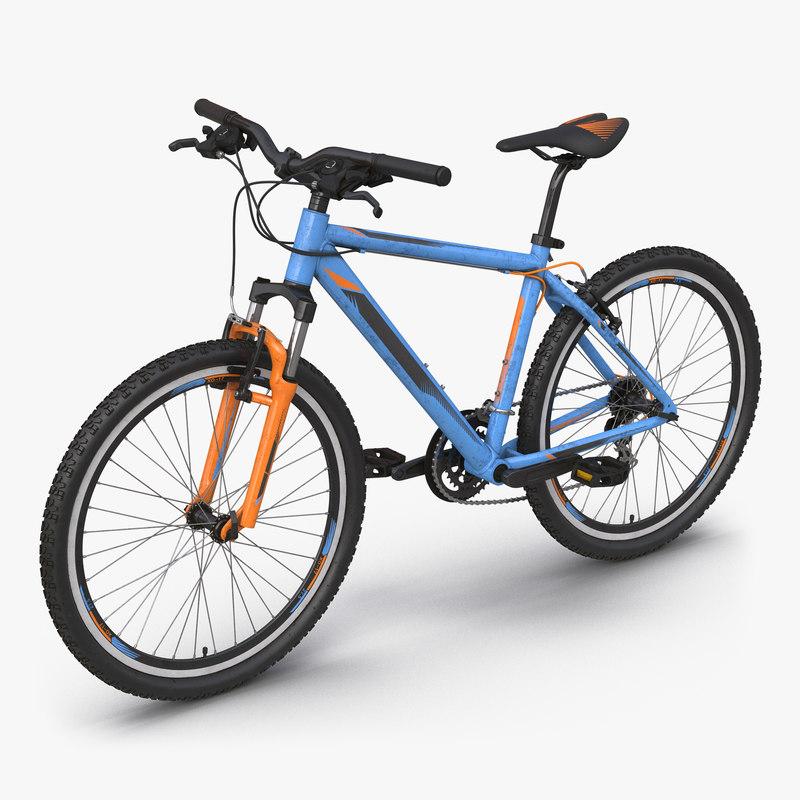 Mountain Bike Generic Blue vray 3d model 000.jpg