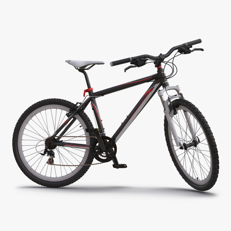 Mountain Bike Generic Red Rigged 3dsmax vray 3d model 000.jpg