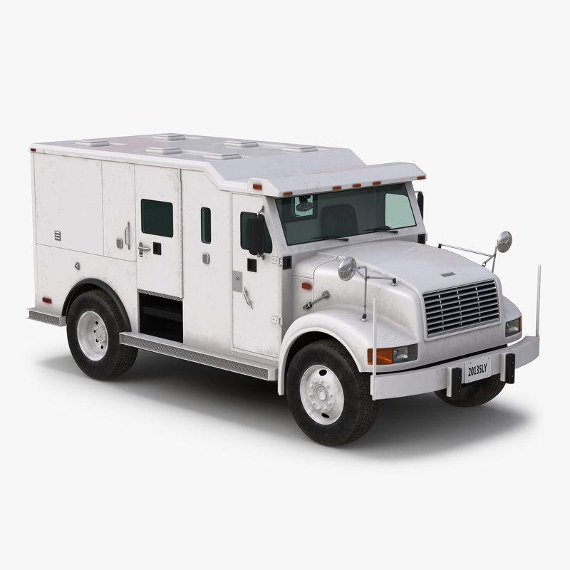 Armored Cash Transport Car vray 3d model 000.jpg