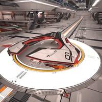 space fighter 3D models