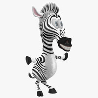 cartoon zebra 3D models