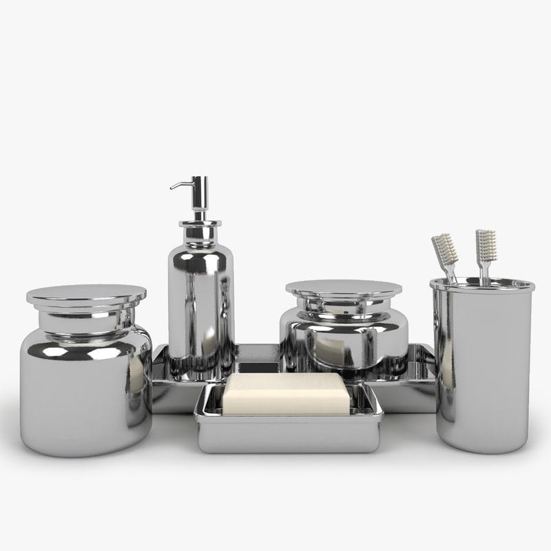 Restoration hardware pharmacy metal 3d 3ds for Restoration hardware bathroom accessories