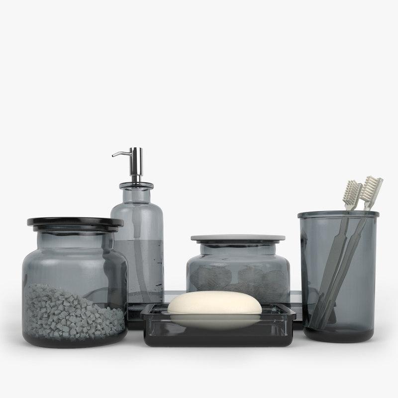 3d restoration hardware pharmacy smoke model - Restoration hardware bathroom accessories ...
