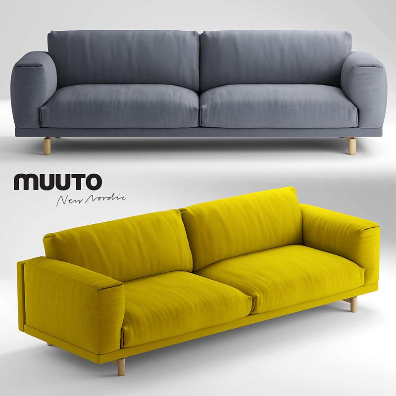 3d max muuto rest 3. Black Bedroom Furniture Sets. Home Design Ideas