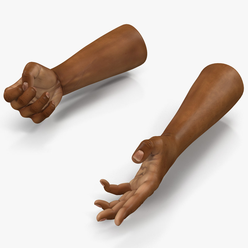 African Man Hands Rigged vray 3d model 00.jpg