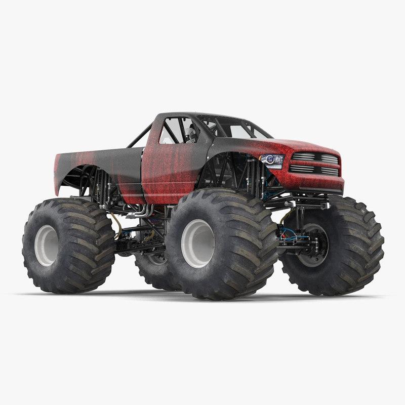 Monster Truck Generic Rigged 3dsmax vray 3d model 000.jpg